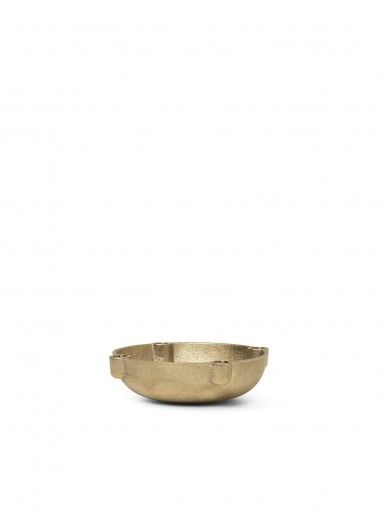 Bowl Candle Holder - Brass - Small Ferm Living