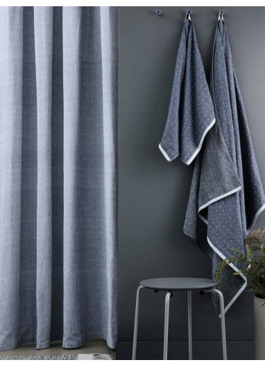 Chambray Shower Curtain - Blue Ferm Living