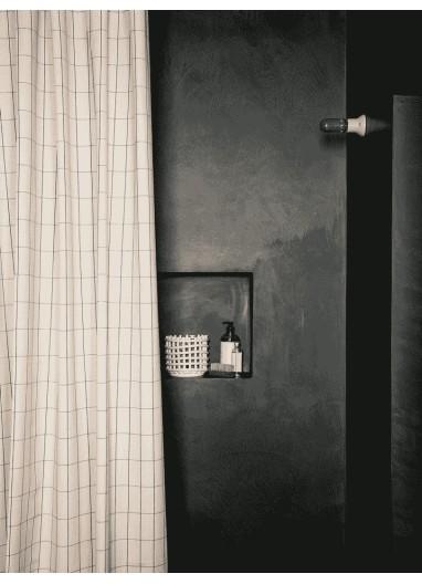 Cortina de ducha CHAMBRAY Cuadrícula Ferm Living
