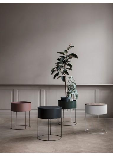 Plant Box Negro Round - Ferm Living
