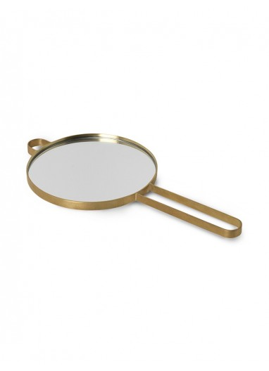 Poise Hand Mirror - Brass Ferm Living