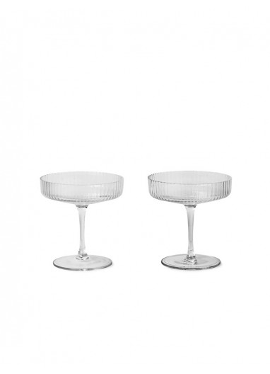 Ripple Champagne Saucer - Set of 2 Ferm Living