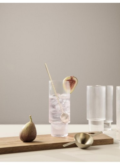 Ripple Long Drink Glasses - Set of 4 - Clare Ferm Living