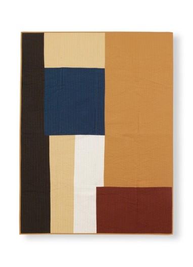 Shay Patchwork Quilt Blanket - Mustard Ferm Living