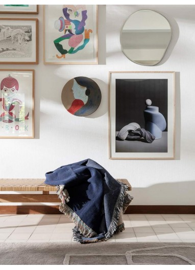 Vista Blanket Dark Blue Ferm Living
