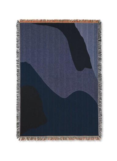 Manta Vista Azul Oscuro Ferm Living