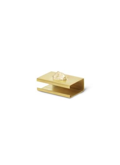 Stone Matchbox Cover Brass Ferm Living