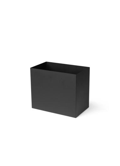 Maceta L Plant Box Negro Ferm Living