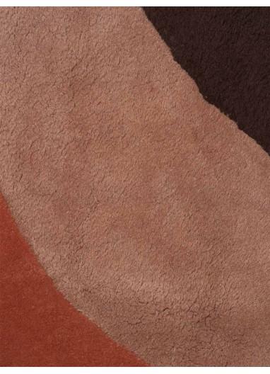 Alfombra View Rojo Marrón Ferm Living