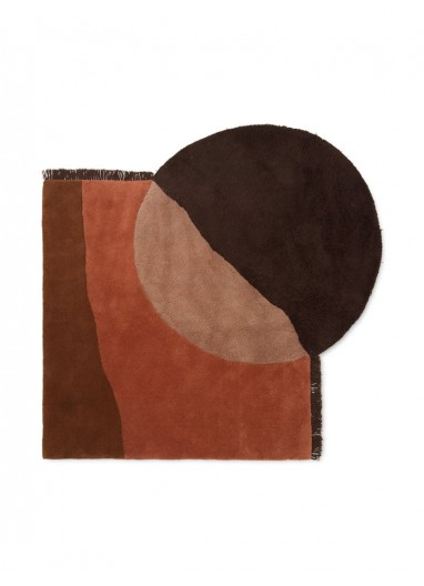 View Tufted Rug Red Brown Ferm Living