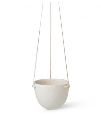 Speckle Hanging Pot Large Off-White Ferm Living