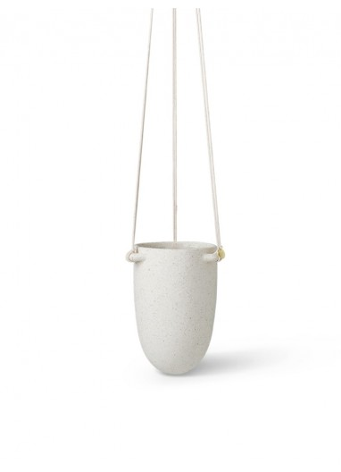 Speckle Hanging Pot Small Off-White Ferm Living