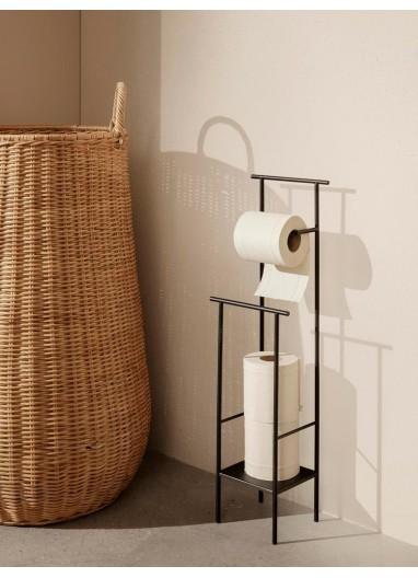 Dora Toilet Paper Stand Black Ferm Living