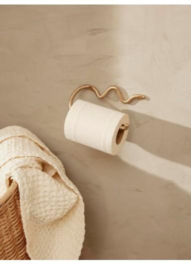 Curvature Toilet Paper Holder Brass Ferm Living