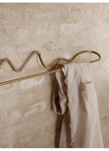 Curvature Towel Hanger Brass Ferm Living