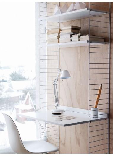 Estantería y escritorio String Blanca