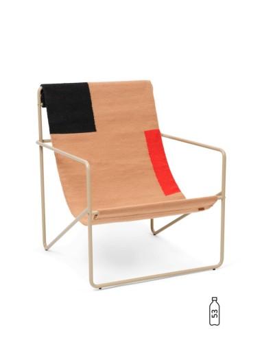 Desert Lounge Chair Cashmere/Block Ferm Living