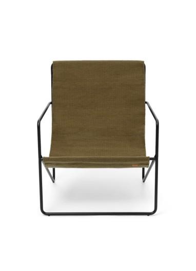 Desert Lounge Chair Black/Olive Ferm Living