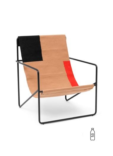 Desert Lounge Chair Black/Block Ferm Living