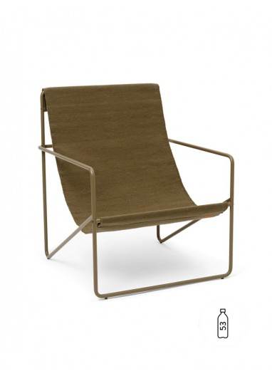 Desert Lounge Chair Olive/Olive Ferm Living