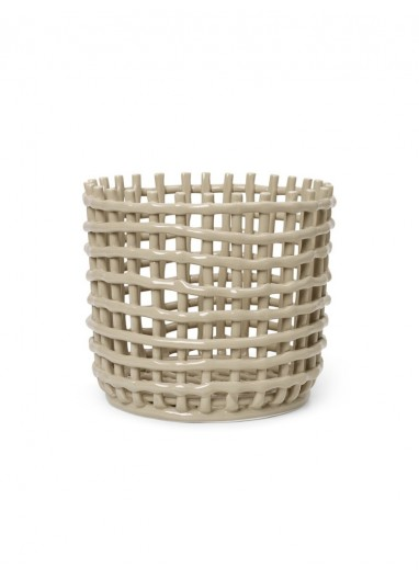 Cesta Ceramic Grande Cashmere Ferm Living