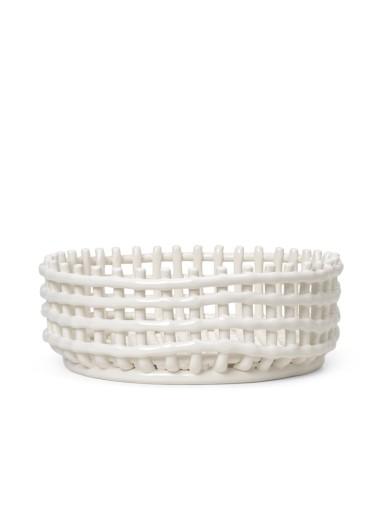 Centro mesa Ceramic Blanco Ferm Living