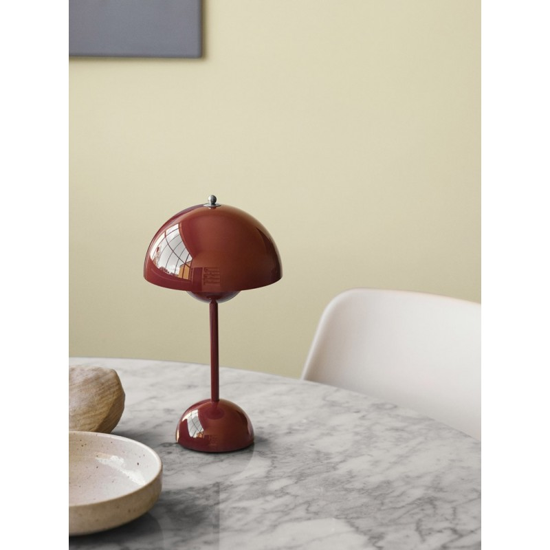 Lámpara Flowerpot VP3 Red brown &Tradition