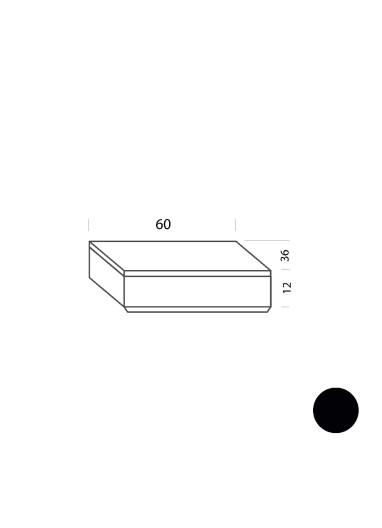 Cajón negro 60cm Tria 36 Mobles114
