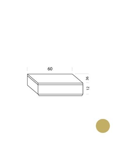 Cajón ocre 60cm Tria 36 Mobles114