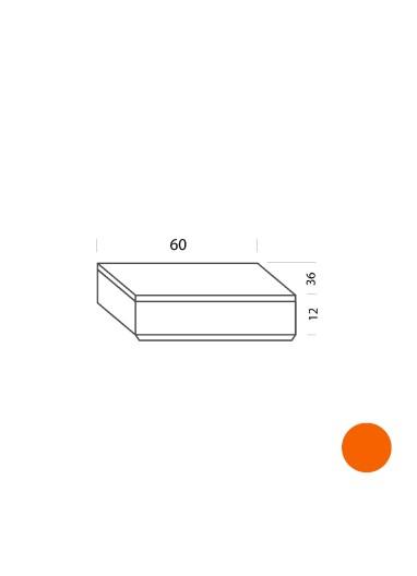 Cajón naranja 60cm Tria 36 Mobles114