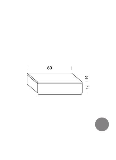 Cajón gris 60cm Tria 36 Mobles114