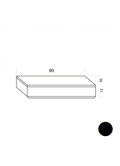 Cajón negro 90cm Tria 36 Mobles114