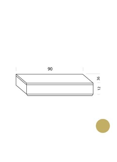 Cajón ocre 90cm Tria 36 Mobles114