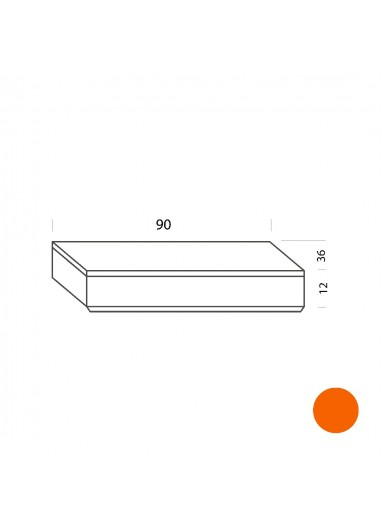 Cajón naranja 90cm Tria 36 Mobles114