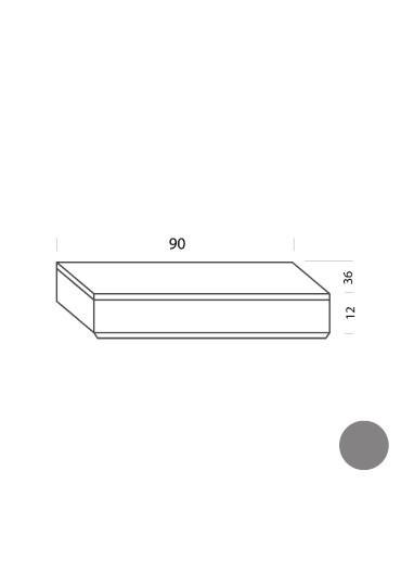 Cajón gris 90cm Tria 36 Mobles114
