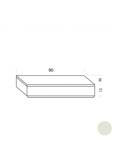 Cajón blanco 90cm Tria 36 Mobles114