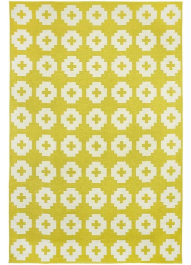 Alfombra Vinílica Flower Amarilla BRITA SWEDEN